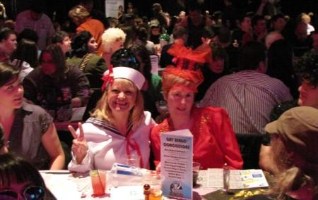 Gals In Costume At Gay Bingo, Jan-10